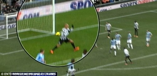 Did he think it touched Gouffran? Hard to say...
