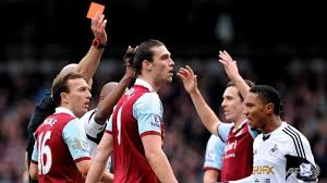 Andy Carroll red carded against Swansea