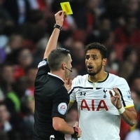 Michael Oliver Carded Nacer Chadli for Celebrating and It Was Stupid